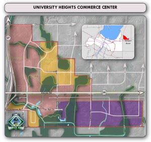 University Heights Commerce Center Map