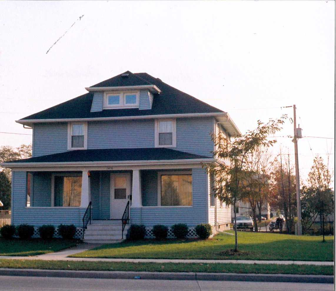 The residential house located at 1416 University Avenue.