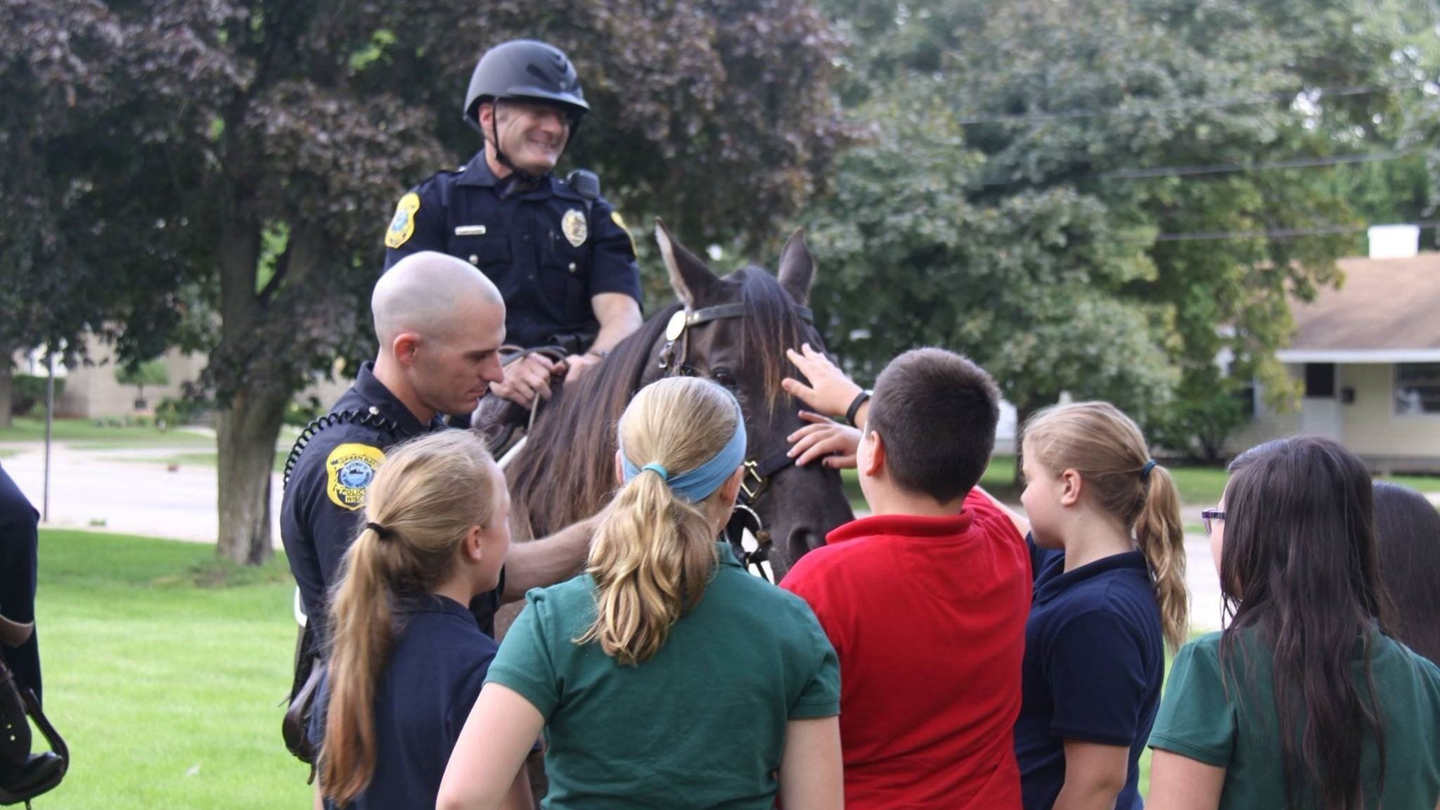 Police with Horse