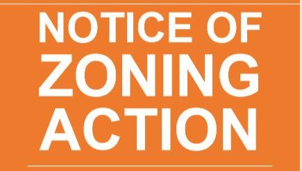 Notice of Zoning Action Clip