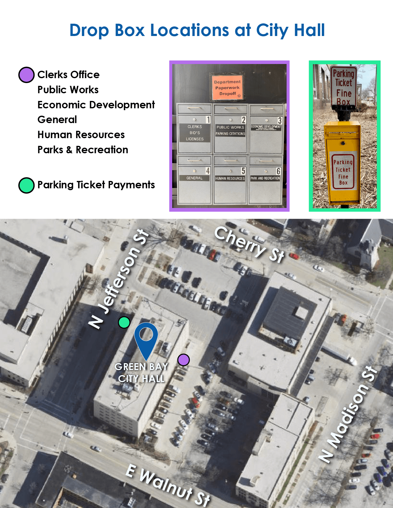 Drop Box Locations at City Hall