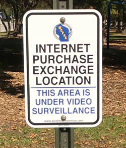 Internet Purchase Exchange Location Sign